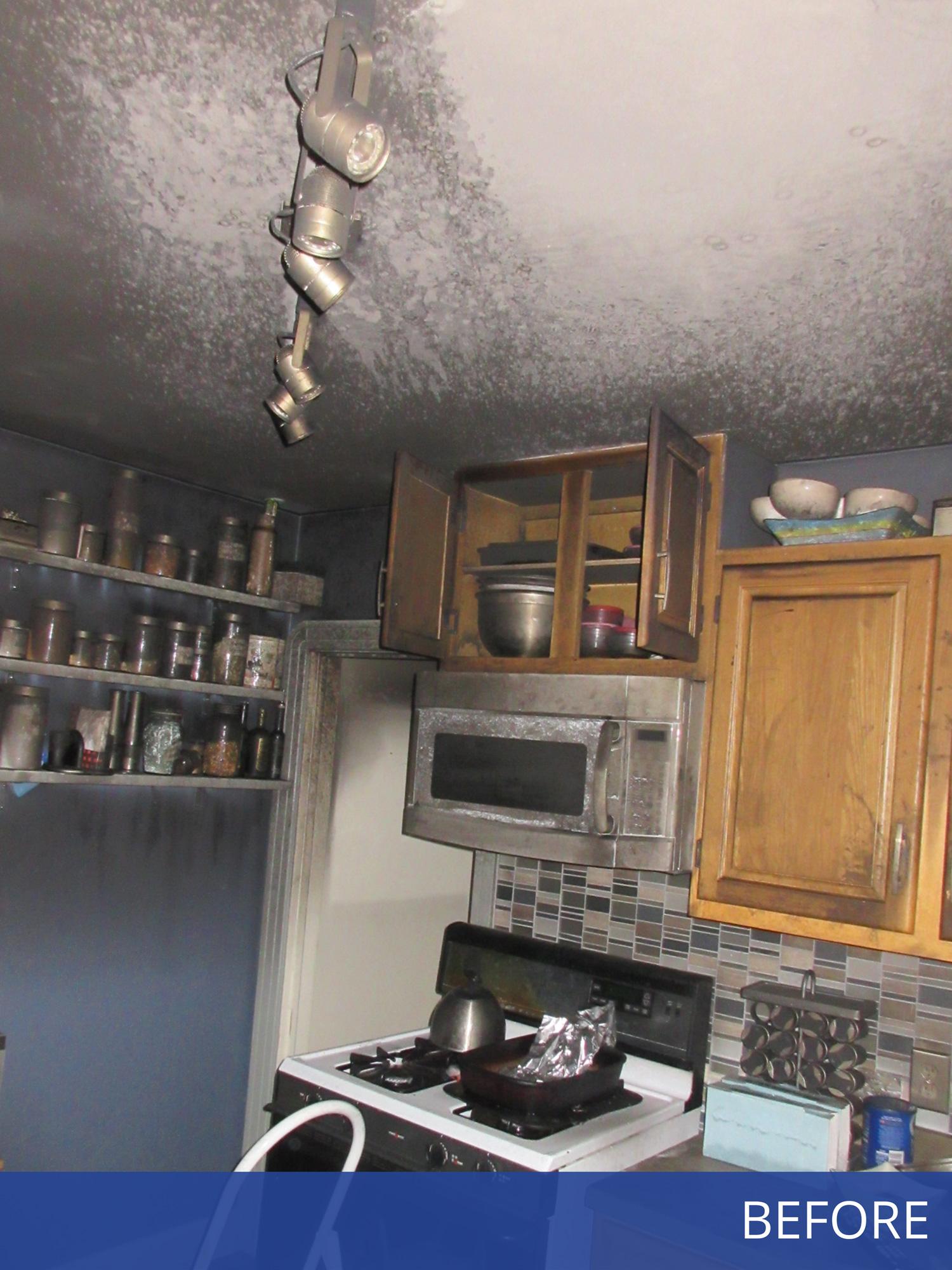 Photo of Damaged Kitchen
