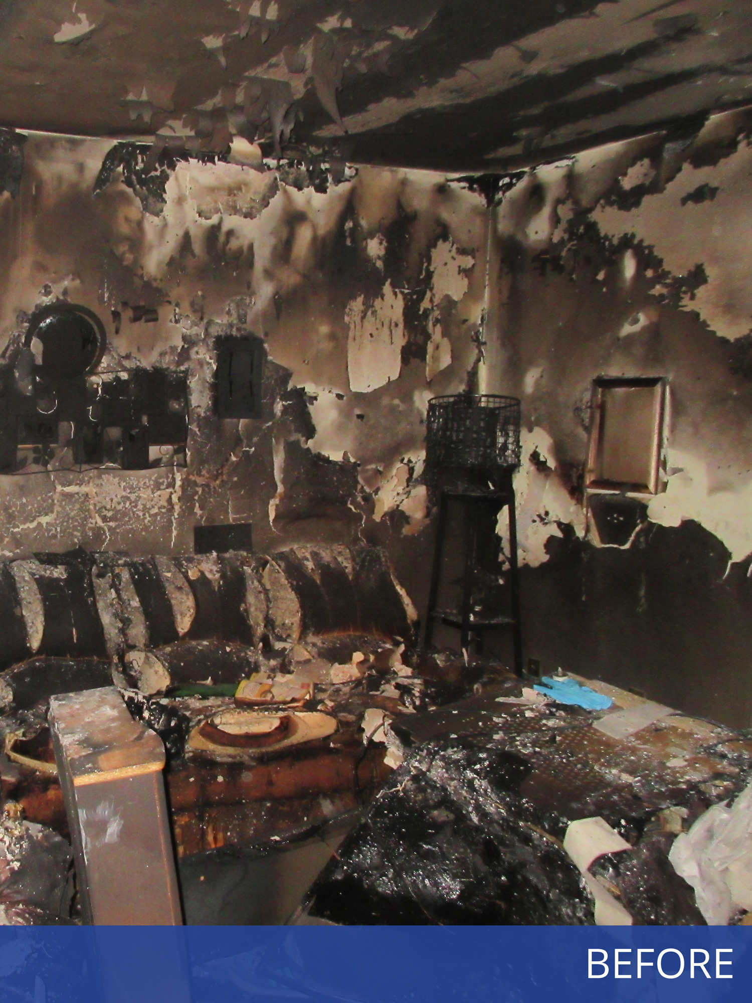 Photo of Damaged Living Room